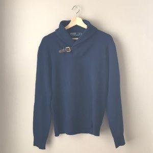 100% cashmere shawl collar sweater by Ralph Lauren